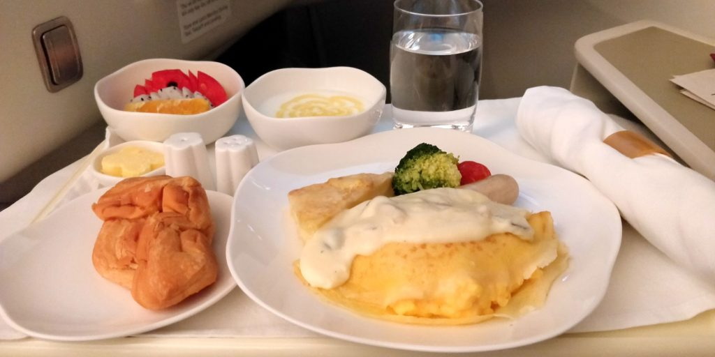Vietnam Airlines Boeing 787 Business Class Breakfast