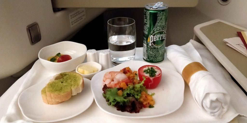 Vietnam Airlines Boeing 787 Business Class Dinner