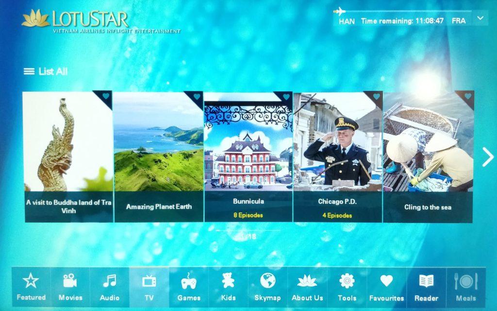 Vietnam Airlines Boeing 787 Business Class Entertainment