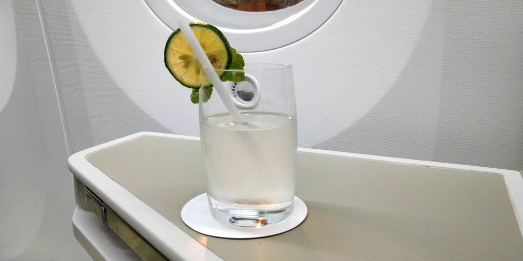 Vietnam Airlines Boeing 787 Business Class Welcome Drink