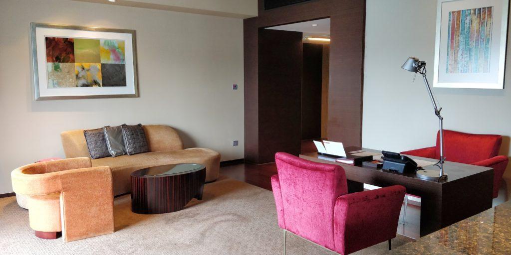 Hyatt on the Bund Shanghai Suite Living Room