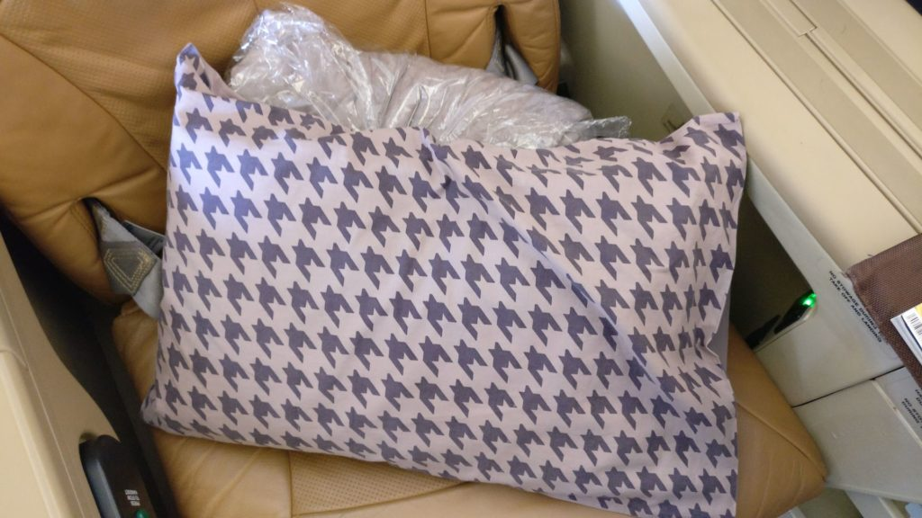 Singapore Airlines Business Class Airbus A330 Bedding