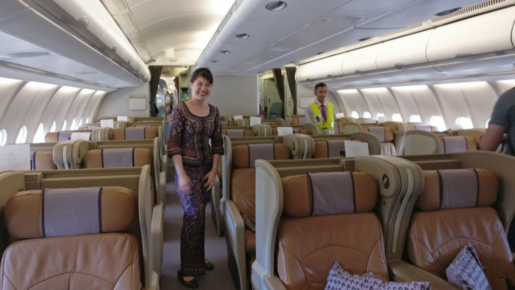 Singapore Airlines Business Class Airbus A330 Cabin