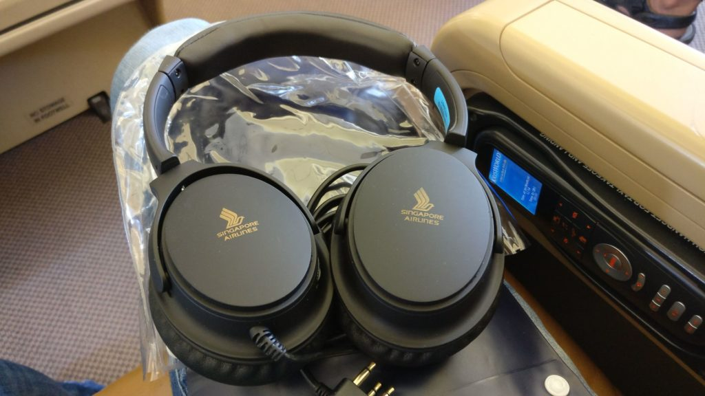 Singapore Airlines Business Class Airbus A330 Headphones