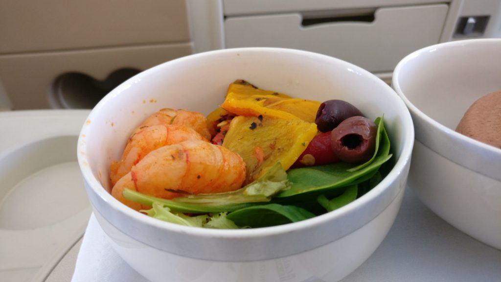 Singapore Airlines Business Class Airbus A330 Lunch