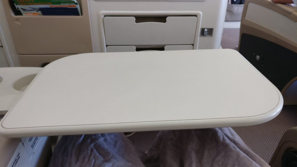 Singapore Airlines Business Class Airbus A330 Table