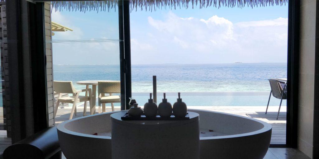 Waldorf Astoria Maldives Ithaafushi Overwater Villa Bathroom