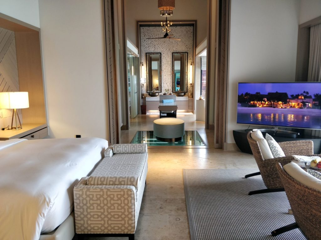 Waldorf Astoria Maldives Ithaafushi Overwater Villa Bedroom