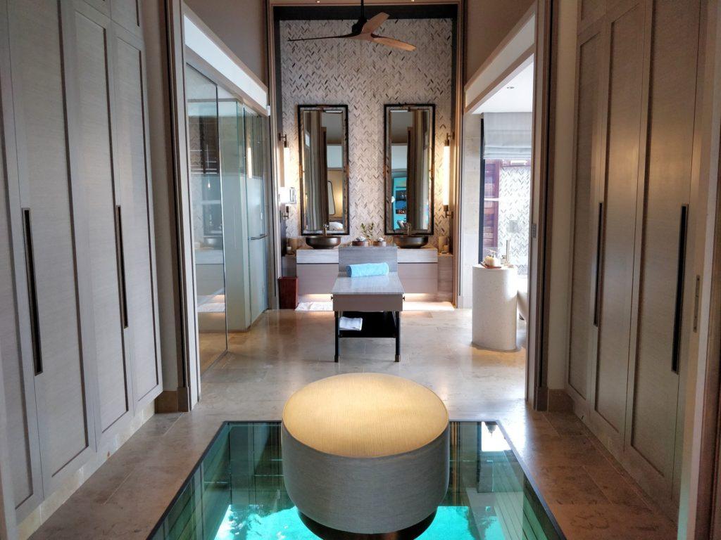 Waldorf Astoria Maldives Ithaafushi Overwater Villa Dressing Room